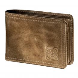 Detail produktu - Pánská kožená peněženka s ochranou dat CRYPTALOY H2C, HAMA 1923 Mailand, světle hnědá