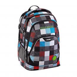 Školní batoh Coocazoo EvverClevver2, Checkmate Blue Red, certifikát AGR