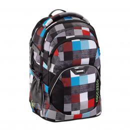 Školní batoh coocazoo JobJobber2, Checkmate Blue Red