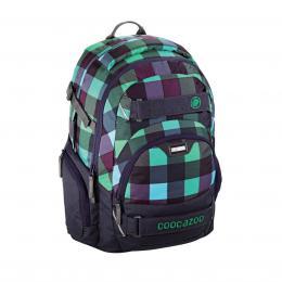 Detail produktu - Školní batoh Coocazoo CarryLarry2, Green Purple District