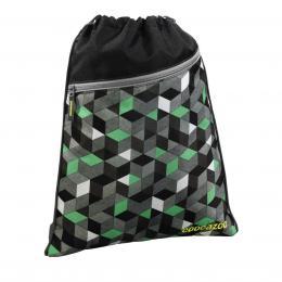 Detail produktu - Sportovní pytel na záda CoocaZoo RocketPocket, Crazy Cubes