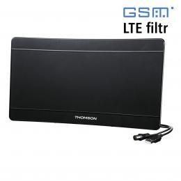 Thomson aktivní pokojová anténa ANT1706, 43 dB, LTE filtr, USB