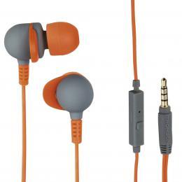 Thomson vodotìsná sluchátka s mikrofonem EAR3245 IPX-Sports, silikonové špunty, šedá/oranžová