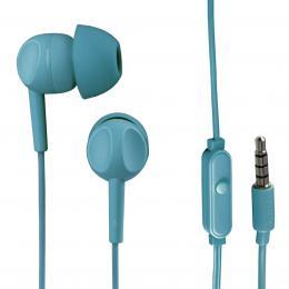 Detail produktu - Thomson sluchátka s mikrofonem EAR3005, silikonové špunty, tyrkysová