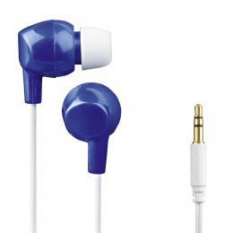 Detail produktu - Thomson dětská sluchátka EAR3106, silikonové špunty, modrá/bílá