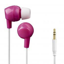 Detail produktu - Thomson dětská sluchátka EAR3106, silikonové špunty, růžová/bílá