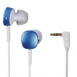 Detail produktu - Thomson sluchátka EAR3056, silikonové špunty, modrá/bílá