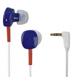 Detail produktu - Thomson sluchátka EAR3056, silikonové špunty, modrá/červená/bílá