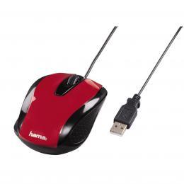 Detail produktu - Hama optická myš AM-5400, metalická červená