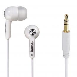 Detail produktu - Hama sluchátka Basic, silikonové špunty, bílá