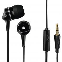 Hama sluchátka s mikrofonem Talk, silikonové špunty, èerná