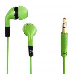 Hama sluchátka Flip, silikonové špunty, zelená