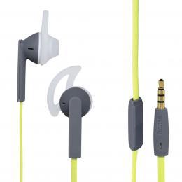 Hama sluchátka s mikrofonem Joy Sport, silikonové špunty, šedá/zelená