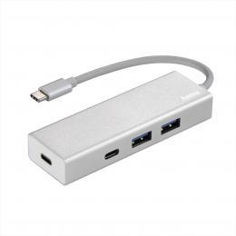 Hama USB-C 3.1 hub 1 4 Aluminium, 2x USB-A, 2x USB-C