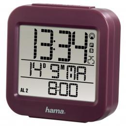 Hama RC 130 digitální budík, øízený rádiovým signálem, vínový