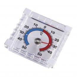 Detail produktu - Hama analogový okenní teploměr, hranatý, 7,5 cm