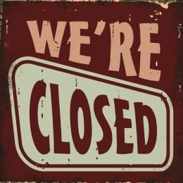 Xavax We re closed, dekoraèní tabulka na stìnu, 25x25 cm