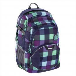 Školní batoh coocazoo JobJobber2, Green Purple District  BONUS SPORTOVNÍ PYTEL za 1,- Kè