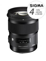 Detail produktu - SIGMA 50/1.4 DG HSM ART Canon