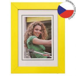 Hama rámeèek døevìný JESOLO, žlutá, 13x18cm