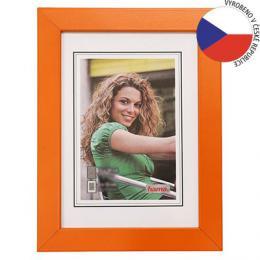 Hama rámeèek døevìný JESOLO, oranžová, 18x24cm