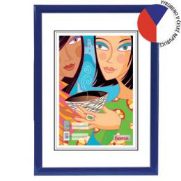 Hama rámeèek plastový MADRID, modrý, 21x29,7cm - zvìtšit obrázek