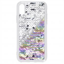 Hama Sequins, kryt pro Apple iPhone X/Xs, perle�ový/støíbrný