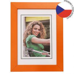 Hama rámeèek døevìný JESOLO, oranžová, 50x70 cm