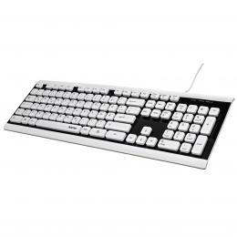 Hama klávesnice Covo, vodìodolná, kabelová, èerná/bílá