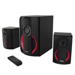 Hama 2.1 Sound systém PR-2180 s rádiem, èerná/èervená