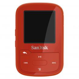 SanDisk Clip Sport Plus 16 GB Wearable, Bluetooth MP3 Player, èervená