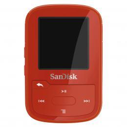 Detail produktu - SanDisk MP3 Sansa Clip Sport Plus 16 GB červená