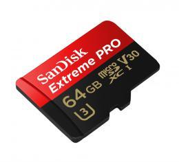 SanDisk Extreme Pro microSDXC 64 GB  100 MB/s A1 Class 10 UHS-I V30, Adapt�r N�HRADA ZA 173388