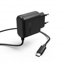 Hama sí�ová nabíjeèka 100-240 V, USB-C, 3 A, èerná