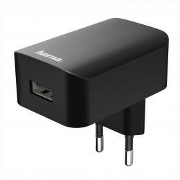Hama sí�ová USB nabíjeèka, 5 V/1 A, èerná