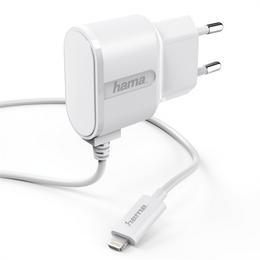 Hama sí�ová nabíjeèka s kabelem, Apple Lightning, MFI, 1 A, bílá