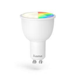Hama WiFi LED žárovka, GU10, 4,5 W, RGB, stmívatelná
