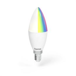 Hama WiFi LED žárovka, E14, 4,5 W, RGB, stmívatelná