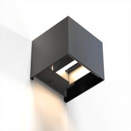 Hama SMART WiFi nástìnné svìtlo, ètvercové, 10 cm, IP44, pro vnìjší i vnitøní použití, èerné