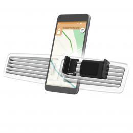 Detail produktu - Hama Flipper, univerzální držák mobilu ve vozidle, pro šířku 6-8 cm, hliníkový, černý