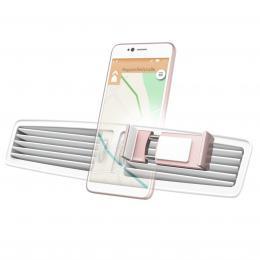 Detail produktu - Hama Flipper, univerzální držák mobilu ve vozidle, pro šířku 6-8 cm, růžové zlato