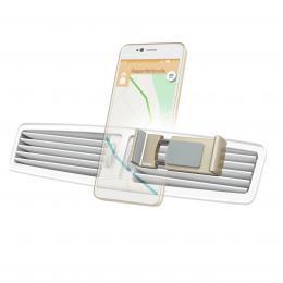 Detail produktu - Hama Flipper, univerzální držák mobilu ve vozidle, pro šířku 6-8 cm, zlatý