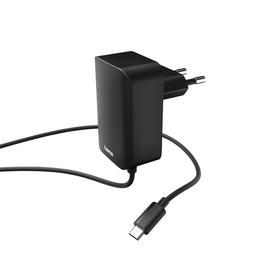 Hama sí�ová nabíjeèka s kabelem, micro USB, 2,4 A, èerná