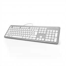 Hama klávesnice KC-700, støíbrná/bílá