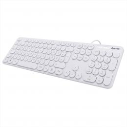 Hama klávesnice KC-500, bílá