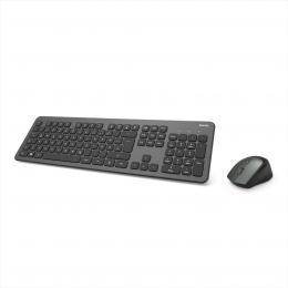 Hama set bezdrátové klávesnice a myši KMW-700, antracitová/èerná