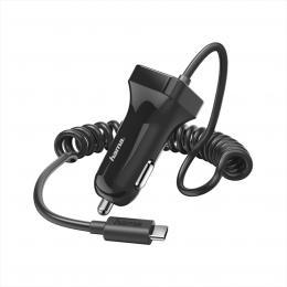 Hama nabíjeèka do vozidla s kabelem, USB typ C (USB-C), 2,4 A, blistr