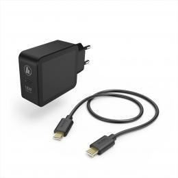 Hama set rychlá USB nabíjeèka USB-C PD/QC 3.0 18 W   kabel USB C-C 1,5 m