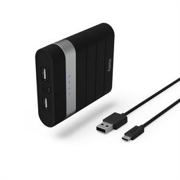Hama Soft Touch powerbanka, 10400 mAh, èerná