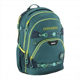 Školní batoh Coocazoo e-ScaleRale TecCheck s elektronicky nastavitelným bederním popruhem, Petrol
